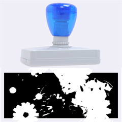 Awesome Flowers In Glowing Lights Rubber Address Stamps (xl)
