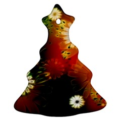 Awesome Flowers In Glowing Lights Ornament (Christmas Tree)