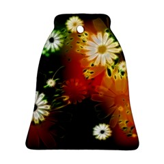 Awesome Flowers In Glowing Lights Bell Ornament (2 Sides)
