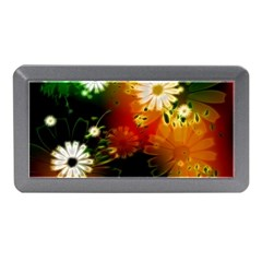 Awesome Flowers In Glowing Lights Memory Card Reader (mini)