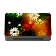 Awesome Flowers In Glowing Lights Memory Card Reader with CF