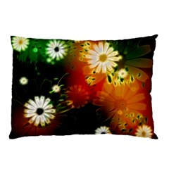 Awesome Flowers In Glowing Lights Pillow Cases (Two Sides)