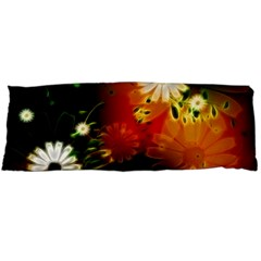 Awesome Flowers In Glowing Lights Body Pillow Cases (dakimakura)