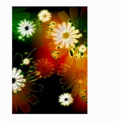 Awesome Flowers In Glowing Lights Large Garden Flag (two Sides)