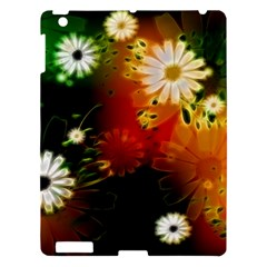 Awesome Flowers In Glowing Lights Apple iPad 3/4 Hardshell Case
