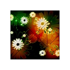 Awesome Flowers In Glowing Lights Acrylic Tangram Puzzle (4  x 4 )