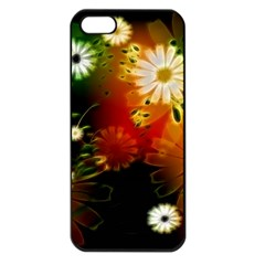 Awesome Flowers In Glowing Lights Apple iPhone 5 Seamless Case (Black)