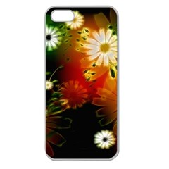Awesome Flowers In Glowing Lights Apple Seamless iPhone 5 Case (Clear)