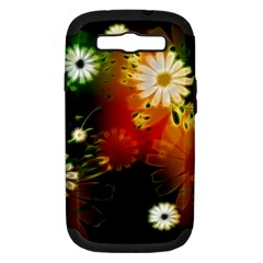 Awesome Flowers In Glowing Lights Samsung Galaxy S III Hardshell Case (PC+Silicone)