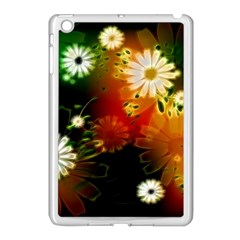 Awesome Flowers In Glowing Lights Apple iPad Mini Case (White)