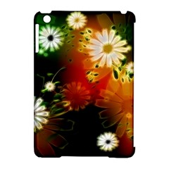 Awesome Flowers In Glowing Lights Apple iPad Mini Hardshell Case (Compatible with Smart Cover)