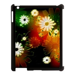 Awesome Flowers In Glowing Lights Apple iPad 3/4 Case (Black)