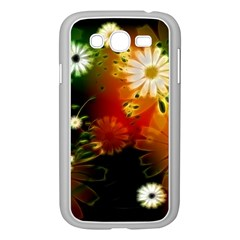 Awesome Flowers In Glowing Lights Samsung Galaxy Grand DUOS I9082 Case (White)