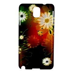 Awesome Flowers In Glowing Lights Samsung Galaxy Note 3 N9005 Hardshell Case