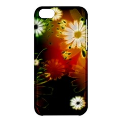 Awesome Flowers In Glowing Lights Apple iPhone 5C Hardshell Case