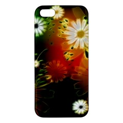 Awesome Flowers In Glowing Lights iPhone 5S Premium Hardshell Case