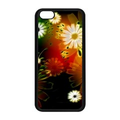 Awesome Flowers In Glowing Lights Apple iPhone 5C Seamless Case (Black)