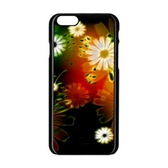 Awesome Flowers In Glowing Lights Apple iPhone 6/6S Black Enamel Case
