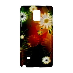 Awesome Flowers In Glowing Lights Samsung Galaxy Note 4 Hardshell Case