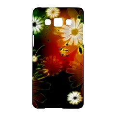 Awesome Flowers In Glowing Lights Samsung Galaxy A5 Hardshell Case