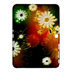 Awesome Flowers In Glowing Lights Samsung Galaxy Tab 4 (10 1 ) Hardshell Case