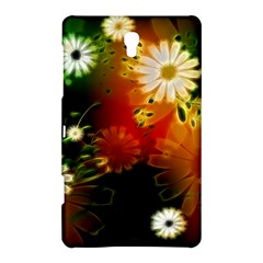 Awesome Flowers In Glowing Lights Samsung Galaxy Tab S (8 4 ) Hardshell Case