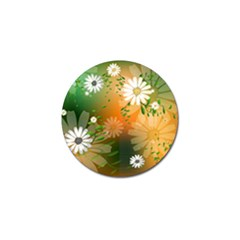 Beautiful Flowers With Leaves On Soft Background Golf Ball Marker (10 pack)