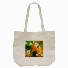 Beautiful Flowers With Leaves On Soft Background Tote Bag (cream)