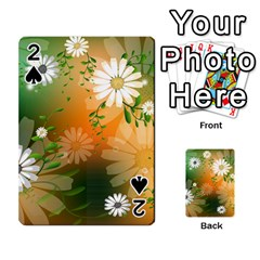 Beautiful Flowers With Leaves On Soft Background Playing Cards 54 Designs