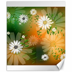 Beautiful Flowers With Leaves On Soft Background Canvas 8  x 10