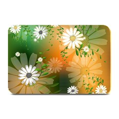 Beautiful Flowers With Leaves On Soft Background Plate Mats