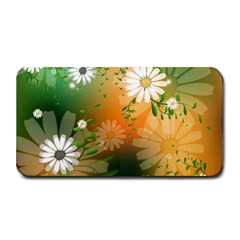 Beautiful Flowers With Leaves On Soft Background Medium Bar Mats