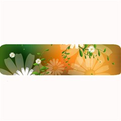 Beautiful Flowers With Leaves On Soft Background Large Bar Mats