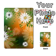 Beautiful Flowers With Leaves On Soft Background Multi-purpose Cards (Rectangle)