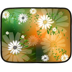 Beautiful Flowers With Leaves On Soft Background Fleece Blanket (mini)