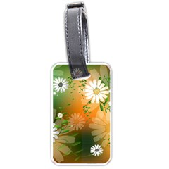 Beautiful Flowers With Leaves On Soft Background Luggage Tags (Two Sides)