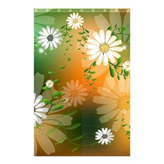 Beautiful Flowers With Leaves On Soft Background Shower Curtain 48  X 72  (small)
