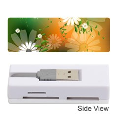Beautiful Flowers With Leaves On Soft Background Memory Card Reader (Stick)