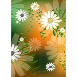 Beautiful Flowers With Leaves On Soft Background Peace Sign 3D Greeting Card (7x5)  Inside