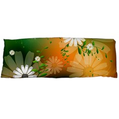 Beautiful Flowers With Leaves On Soft Background Body Pillow Cases (Dakimakura)