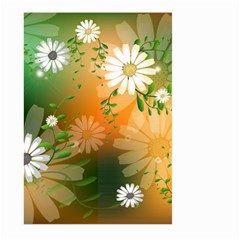 Beautiful Flowers With Leaves On Soft Background Large Garden Flag (Two Sides)