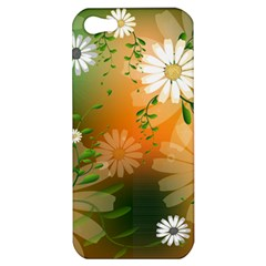 Beautiful Flowers With Leaves On Soft Background Apple iPhone 5 Hardshell Case