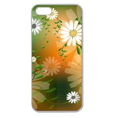 Beautiful Flowers With Leaves On Soft Background Apple Seamless iPhone 5 Case (Clear)