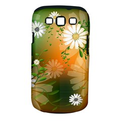 Beautiful Flowers With Leaves On Soft Background Samsung Galaxy S III Classic Hardshell Case (PC+Silicone)