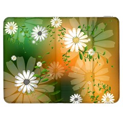 Beautiful Flowers With Leaves On Soft Background Samsung Galaxy Tab 7  P1000 Flip Case