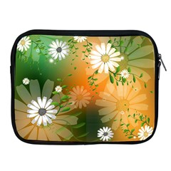 Beautiful Flowers With Leaves On Soft Background Apple iPad 2/3/4 Zipper Cases