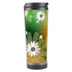 Beautiful Flowers With Leaves On Soft Background Travel Tumblers