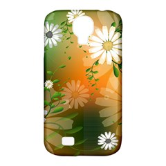 Beautiful Flowers With Leaves On Soft Background Samsung Galaxy S4 Classic Hardshell Case (PC+Silicone)