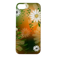 Beautiful Flowers With Leaves On Soft Background Apple iPhone 5S Hardshell Case