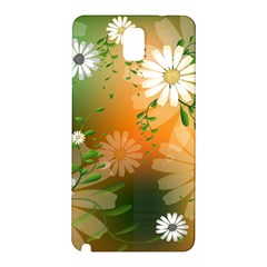 Beautiful Flowers With Leaves On Soft Background Samsung Galaxy Note 3 N9005 Hardshell Back Case